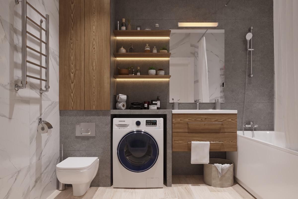 Mažo vonios kambario interjeras. Ką galime padaryti?